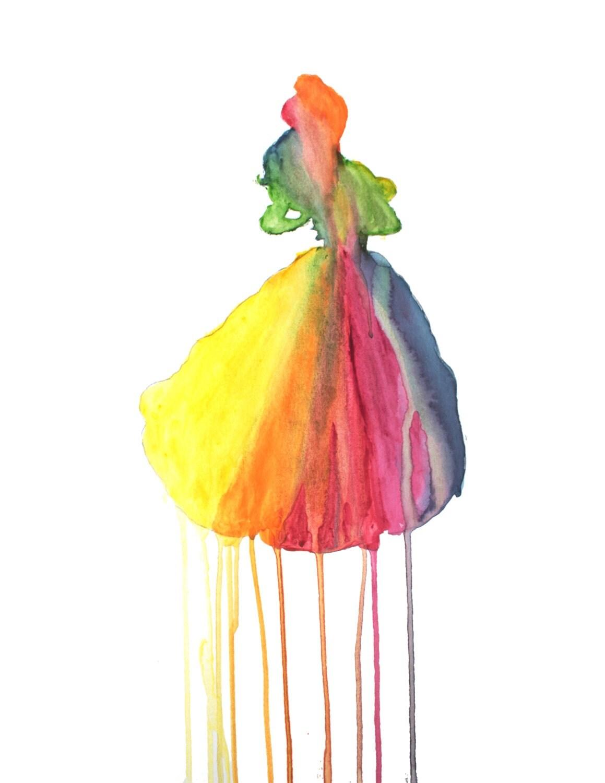 Belle belle et la b te disney princesse aquarelle peinture - Peinture princesse disney ...