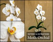 Crochet Orchid PATTERN - Crochet Moth Orchid for Home Decor & Flower Applique - Phal Orchid Flower Pattern - Crochet Flower Pattern