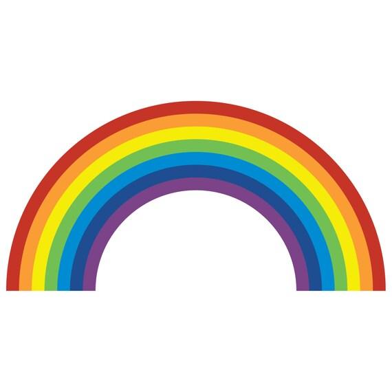 rainbow wall sticker rainbow wall sticker ethical market