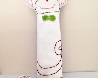 Cheeky Monkey lavender cushion