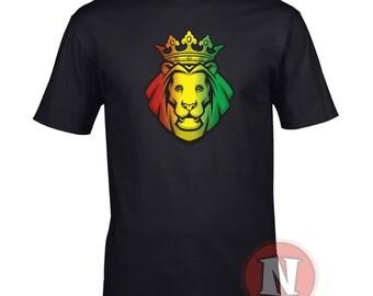 Ratsa lion reggae t-shirt. Dub, dancehall, lovers rock, dubstep and reggae lovers. 5 colours.