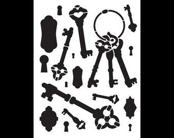 """Simple Key Bits Stencil-8 1/2"""" X 11""""-SKU:STCL370"""