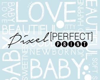 "EXCLUSIVE - 5ft x 5ft ""Baby Boy Love"" Vinyl Backdrop // Vinyl Backdrops // Vinyl Photography Backdrop // Newborn Baby Backdrops (PP042)"