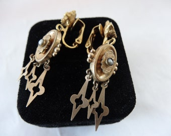 Victorian/Edwardian Gold-Filled Earrings