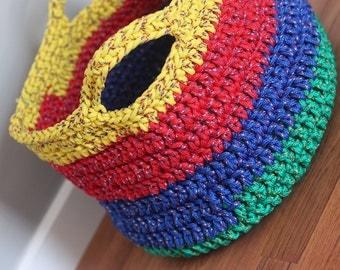 Large Crocheted Storage Basket