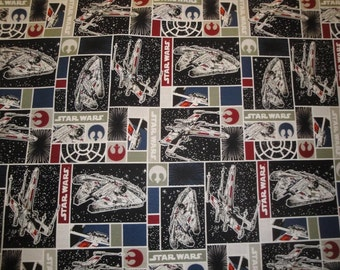 "Multi ""Star Wars"" Imperial Ships-All Over Design-Yardage-Camelot Cottons"