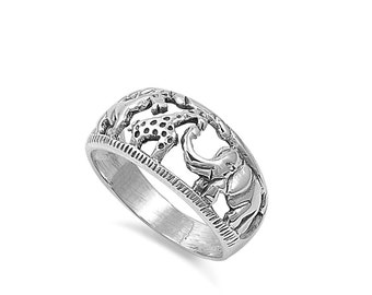Safari Animals 10MM Sterling Silver 925