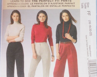 McCall's 5239.  McCalls 5239. Palmer and Pletsch. The Perfect Fit Pants. Classic Fit. Learn to Sew. Size 16-18-20-22.