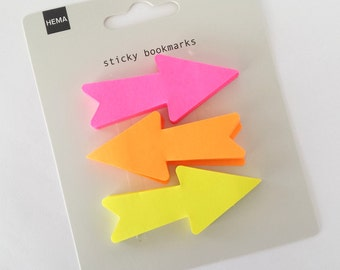 "Sticky notes fluorescent ""Arrows"""