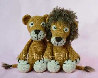 Crochet pattern - Lisa and Leo Lion