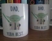 Dad yoda best Mug *Star wars Mug* *yoda Mug*