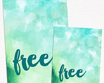 Free -  4x6 and 3x4 printable art journal cards