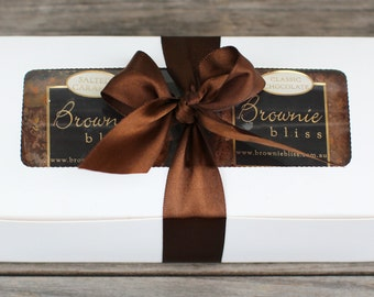 gourmet chocolate brownies gift box - assorted flavours