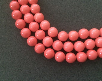 "15-3/4"" Simon Pink Color Shell Pearl 16MM Round Beads"