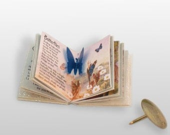 Miniature Fairy Book (double sided printed pages, with illustrations & pop up)
