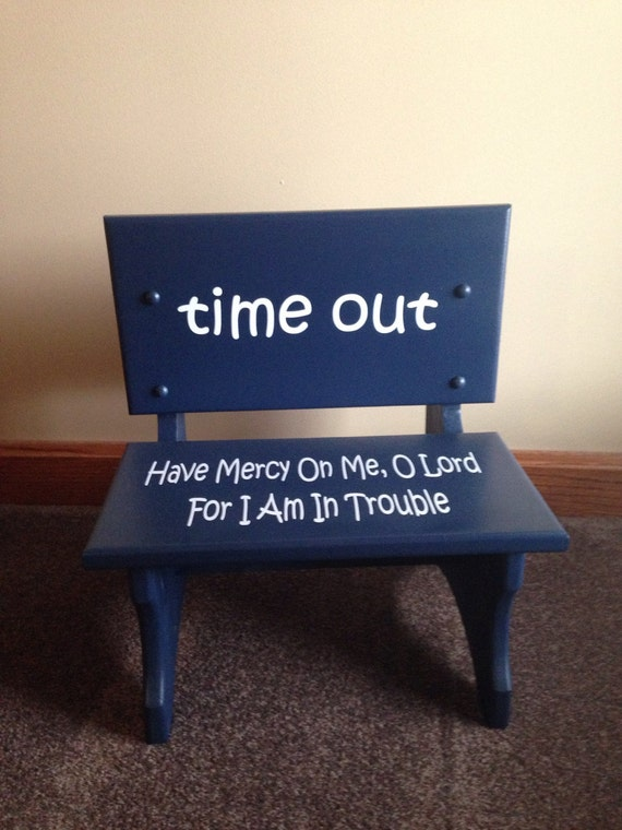 Handmade Wooden Toddler Time Out Chair Bench Childrens