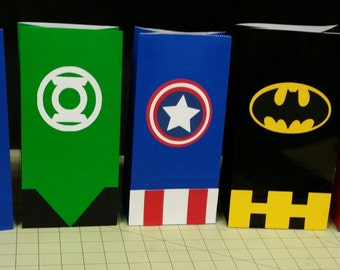 Super Hero's Favor Bags/ Goody Bags