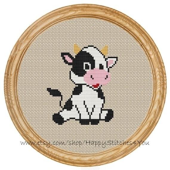 cross stitch pattern pdf cow dd0050