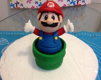 Mario edible cake topper