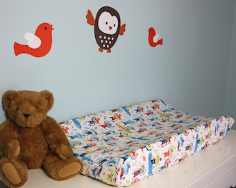 Changing Pad Cover | Monkeys at the Zoo