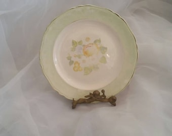 Charming Aged Mint Cream Romantic Petite Plate for Decor or Use!