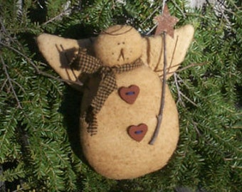 Primitive Snowman Angel E-pattern