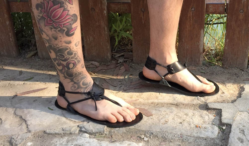 barefoot sandals men sandals handmade sandals black. Black Bedroom Furniture Sets. Home Design Ideas