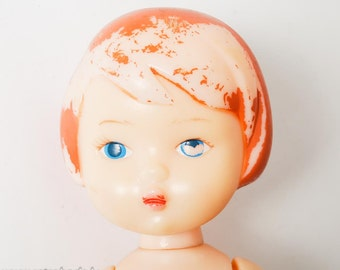 Vintage Russian Plastic Toy, Doll  (RT091)