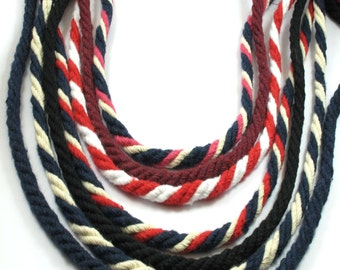 Twisted cotton cord,Rayon Twist Cord 6 mm, 3 meters