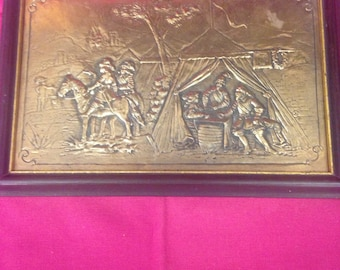 Copper Relief  Wall Plaque - Great Gift Idea