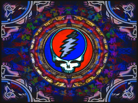 Grateful dead steal your face skull jerry by cpurcellartwork - Grateful dead screensavers free ...