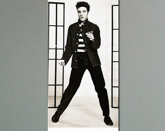 """Elvis Presley Jailhouse Rock Canvas Print 