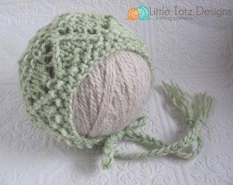 Emma Bonnet - Knitting Pattern - Newborn