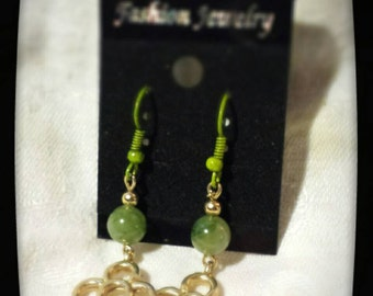 Green and Gold... Earrings