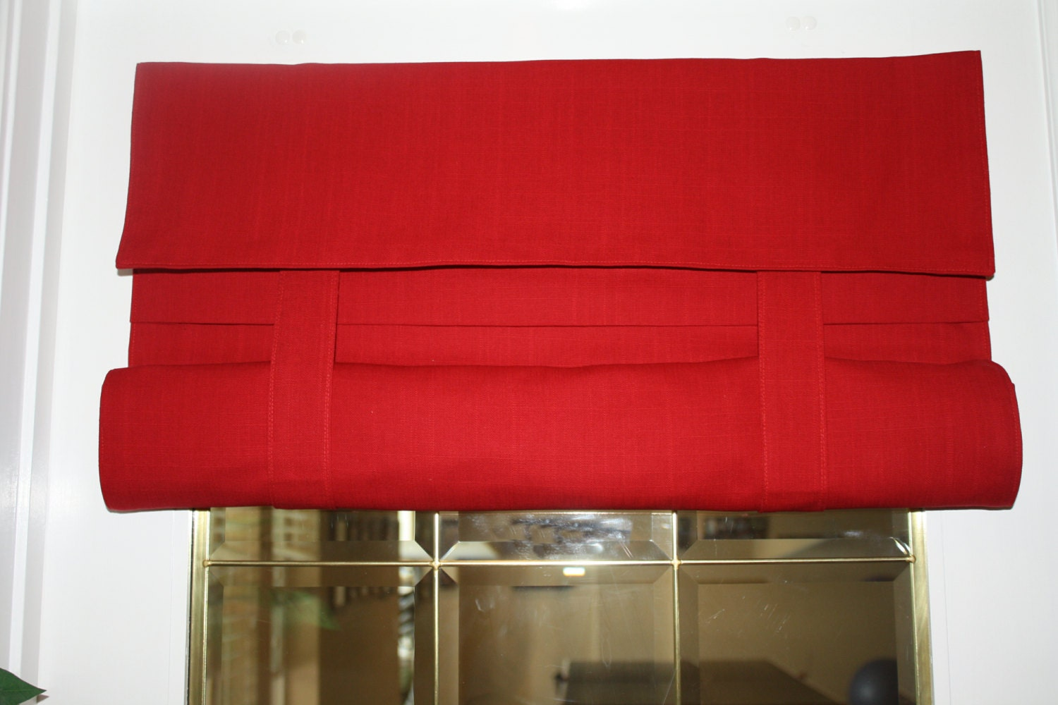 Red French Door Curtain