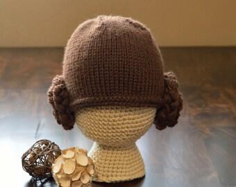Princess Leia Hat Star Wars, Knitted Star Wars Hat, Photo Prop