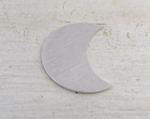 "Five 1 1/4"" Crescent Moon Blanks 