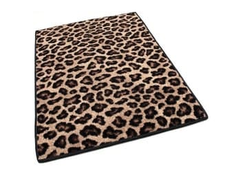 Jungle Animal Instinct WILD LEOPARD Print INDOOR Carpet Area Rug - Premium Nylon