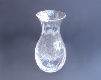 1990s Vintage Dartington Crystal Glass Vase Flower Vase Vintage Vase Swirl Pattern