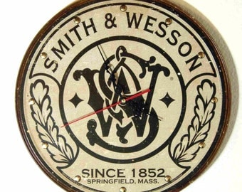 Smith & Wesson Firearms Wall Clock - 11.75 Diameter - New