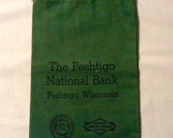 Peshtigo State Bank Bag - Early 1900's