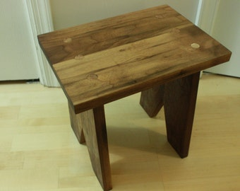 Rustic, Black Walnut Foot Stool. Kid step stool. Kid Furniture.