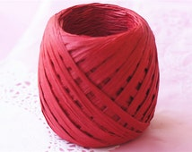A Roll of 30 Meters Red Paper String Thread Scrapbooking Packaging Gift Sugar Bag Decoration Deco Bake Food Party Wedding RO206