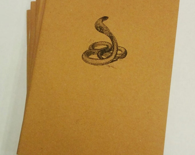 Cobra Mini Notebook - diary, journal, party favors, multipack, snake, reptile, custom printing included