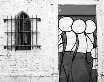 Graffiti Photography, Stik, Street Art, London Photography, Fine Art Print, Contemporary Wall Art, Urban Photography