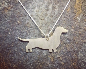 Dachshund Sterling Silver Pendant