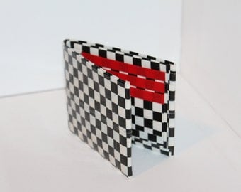 Checker and Red Duct Tape Wallet