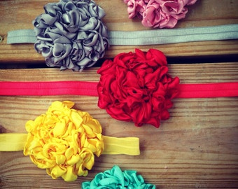 Vintage Mums Girls Headband In A Variety of Colors