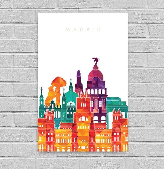 Madrid print madrid art print printable wall art by - Laminas y posters madrid ...