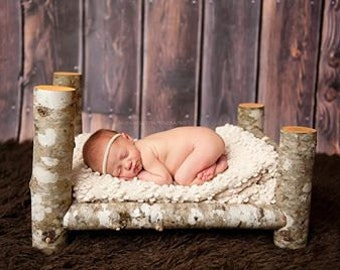 Log Bed Photography prop.Wooden prop, wooden photo prop. baby photography props, newborn log bed, toddler log bed, wood photo prop, wood bed